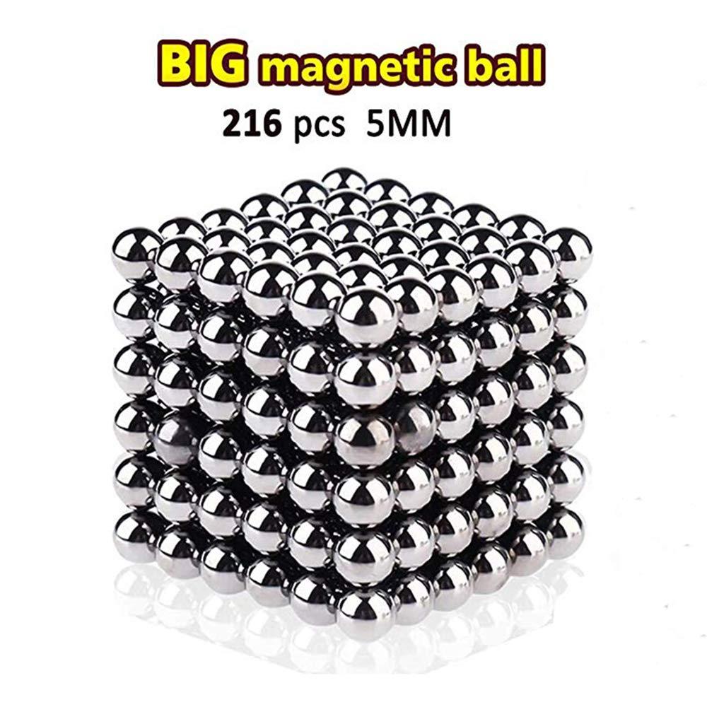 216 PCS 5MM Magnetic Cube Puzzle Prime Quality Fidget Toys Fidget Cube Ideal Office Stress Relief Executive Desk Toy. Magic Metal Square Fidget Magnets Cool Gadget by Coolpay