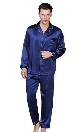 CLC Men s Pure Mulberry Silk Pajama Set Sleep Sets 19mm at Amazon Men s  Clothing store  6b894fab1