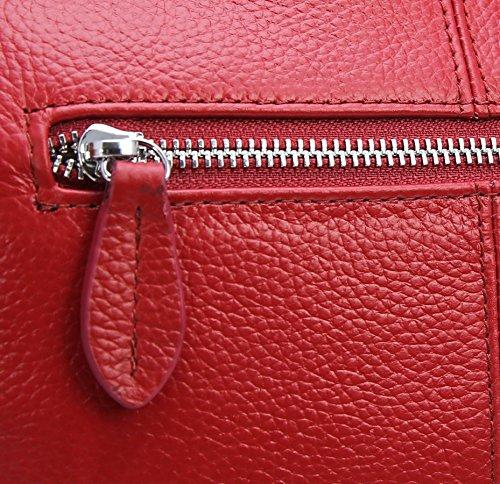 Crossbody Heshe Satchel Leather Shoulder Wine Ladies Bag Small Handbags and Designer Womens Bags for Handbag Purses RRrwqTz