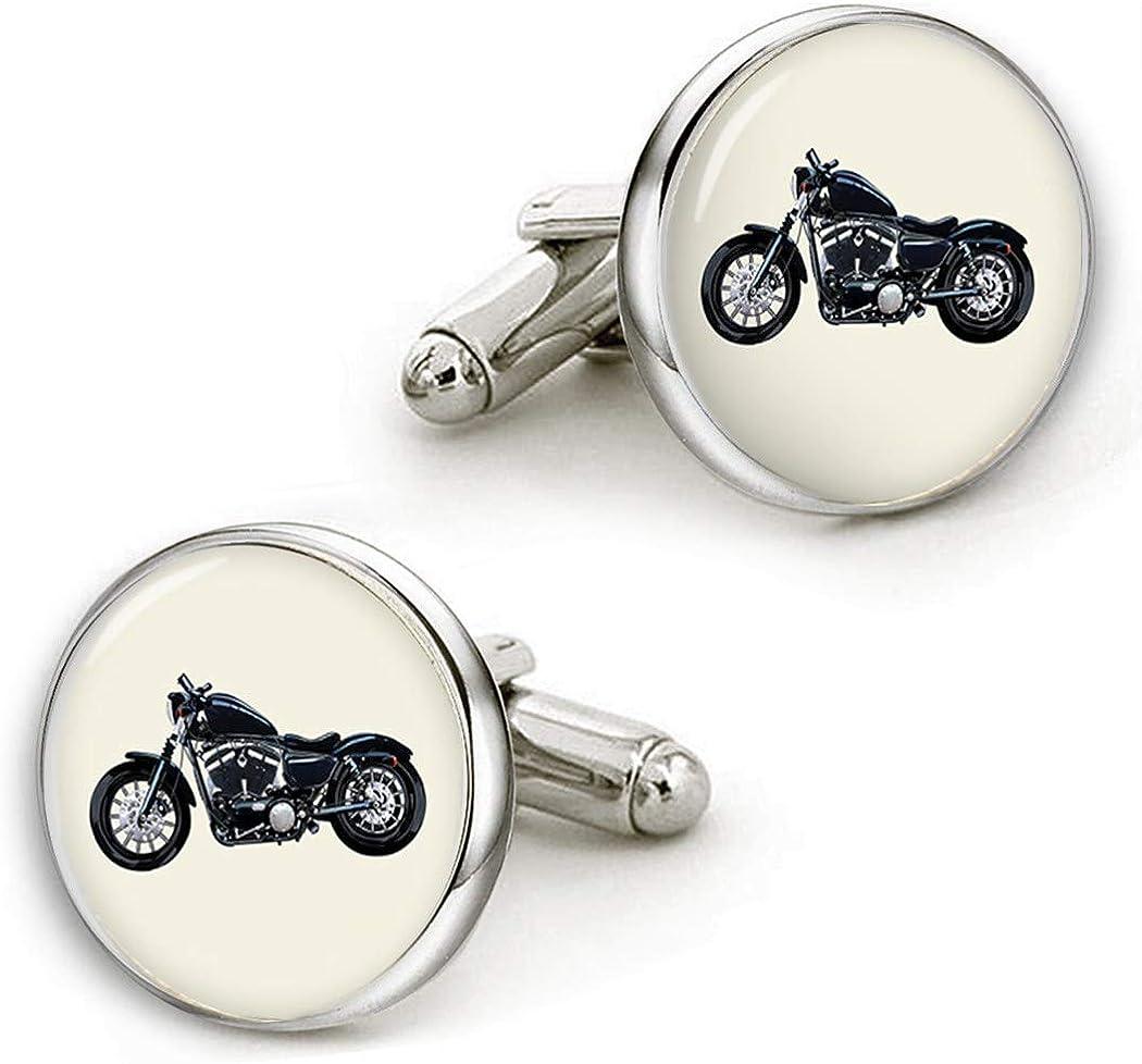 Motorcycle Cufflinks Personalized Cufflinks Custom Wedding Cufflinks Square Cufflinks Round Tie Clips Cusotm Motorcycle Photo or Set