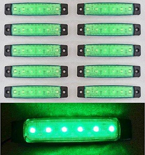 10x LED side rear outline 12V Green marker lights for truck camper trailer caravan