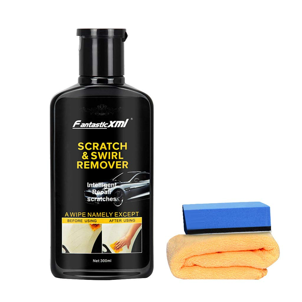 Multipurpose Scratch Swirl Remover Wax, Scratch Paint Restoration Car Scratch Repair Kit for Repairing Car Scratches and Light Paint Scratches on Surface with Sponge and Towel