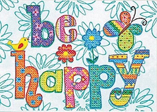 Dimensions Needlecrafts Stamped Cross Stitch, Be Happy