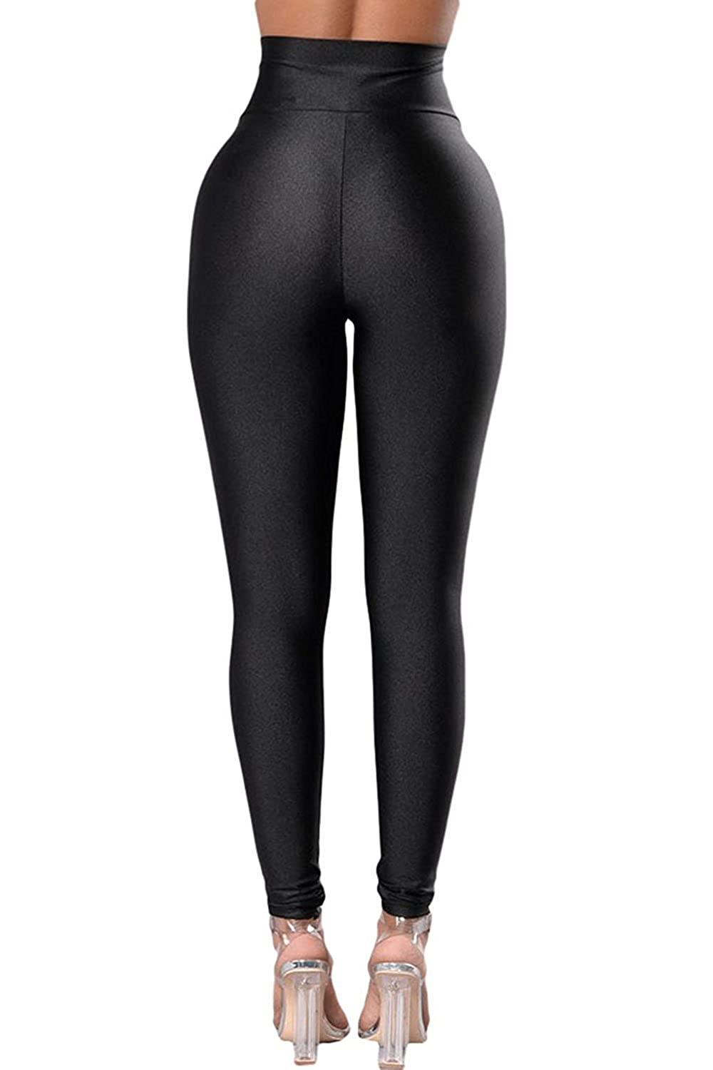 Aranmei Sport Leggings Damen Yoga Leggings Schwarz High Waist Hose Skinny Stretch Fitness Hose