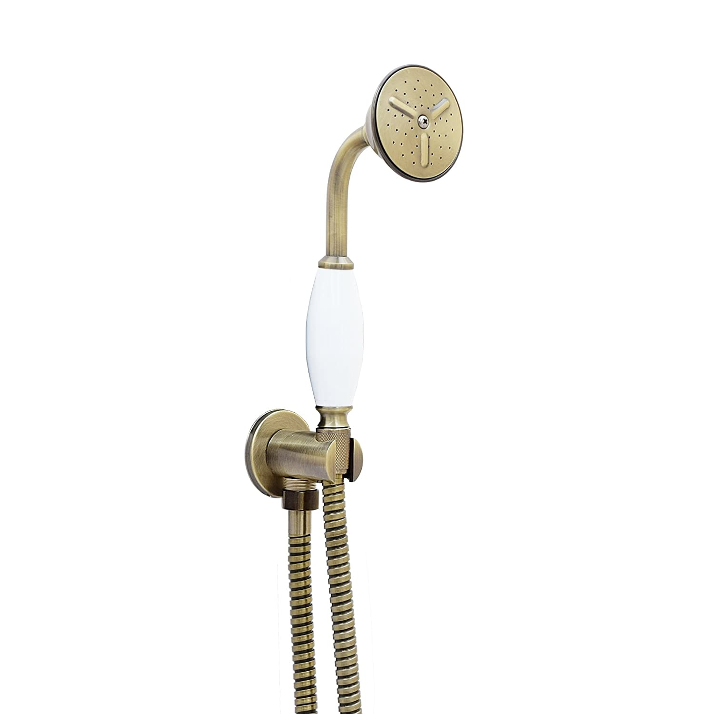 ENKI Antique Bronze Traditional Hand Shower Kit Bracket Holder Elbow Outlet Brass Head Hose B-C140AB-C113AB-C171AB
