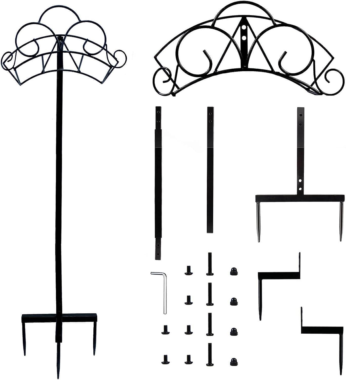 Orgrimmar Detatchable Heavy Duty Metal Water Hose Reel Decorative Garden Hose Holder Hangerfor Outside