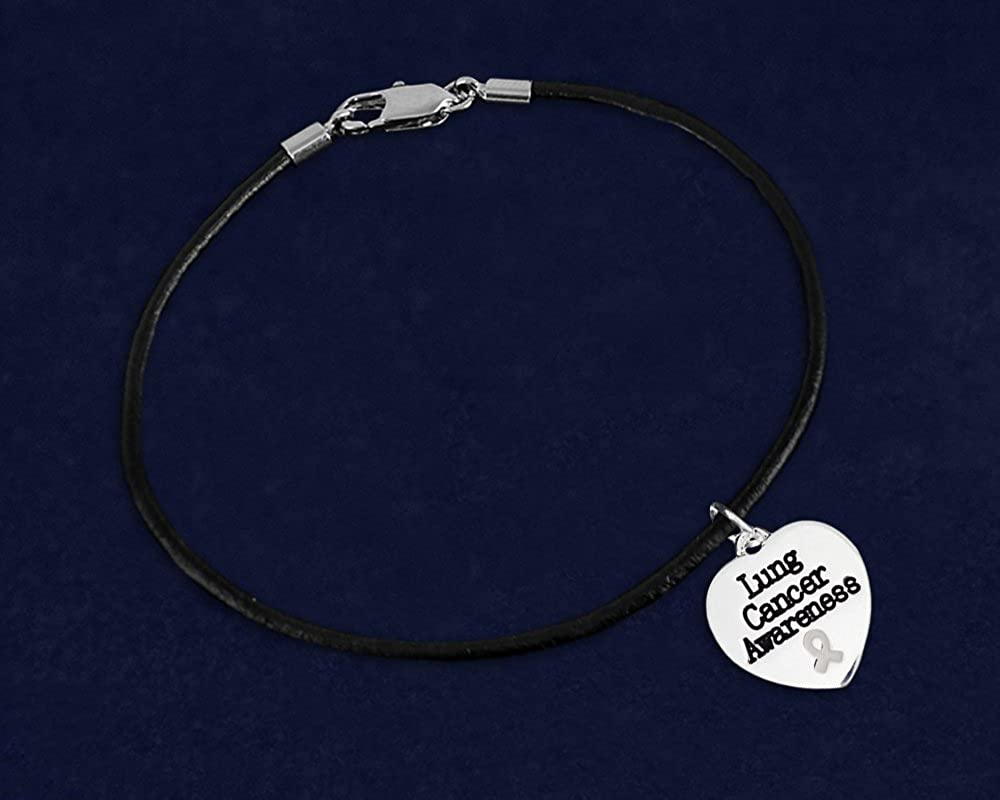 Wholesale Fundraising For A Cause Lung Cancer Awareness White Ribbon Bracelets SILBA-15
