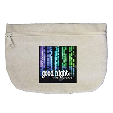 d6a67898d6fc Amazon.com: Good Night for the Sweet Prince Cotton Canvas Makeup Bag ...