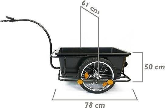 Cablematic - Remolque de bicicleta para carga de 80Kg con caja de ...