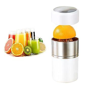 Compra AOLVO - Exprimidor de cítricos portátil de Acero Inoxidable con Tapa de rotación Manual, limón, Naranja, Naranja, Naranja y Lima en Amazon.es
