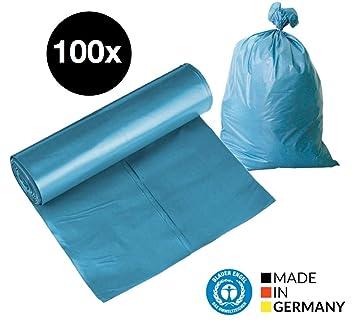25 Stück Müllsäcke Blau Abfallbeutel Mülltüten Müllbeutel 120 Liter