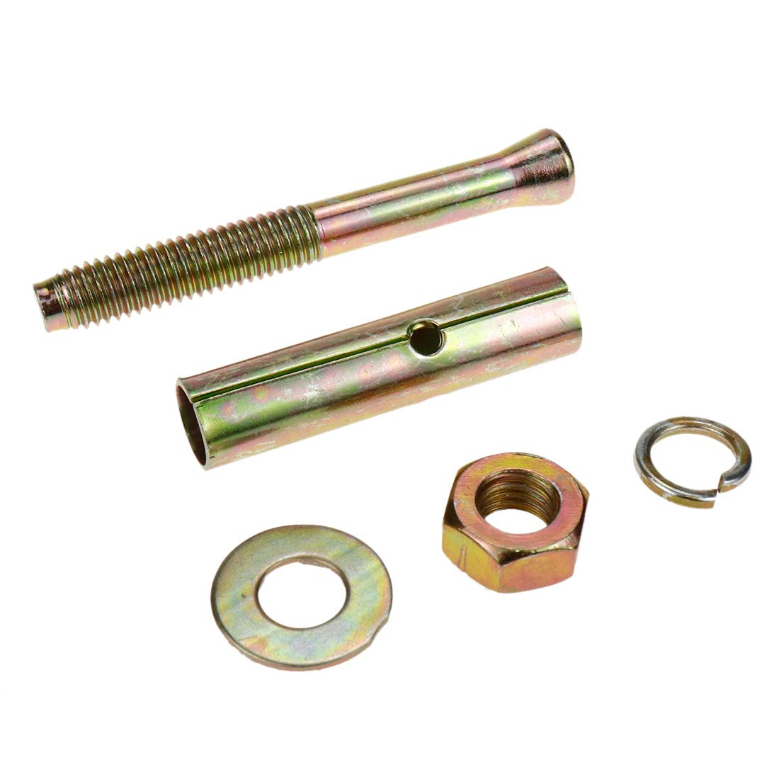 Color : M8X100 1pcs Stainless Steel Expansion Screw Shield Anchor With Hex Bolt for Bracket Connecting Fastener Air Conditioning Wall Fixing Screw