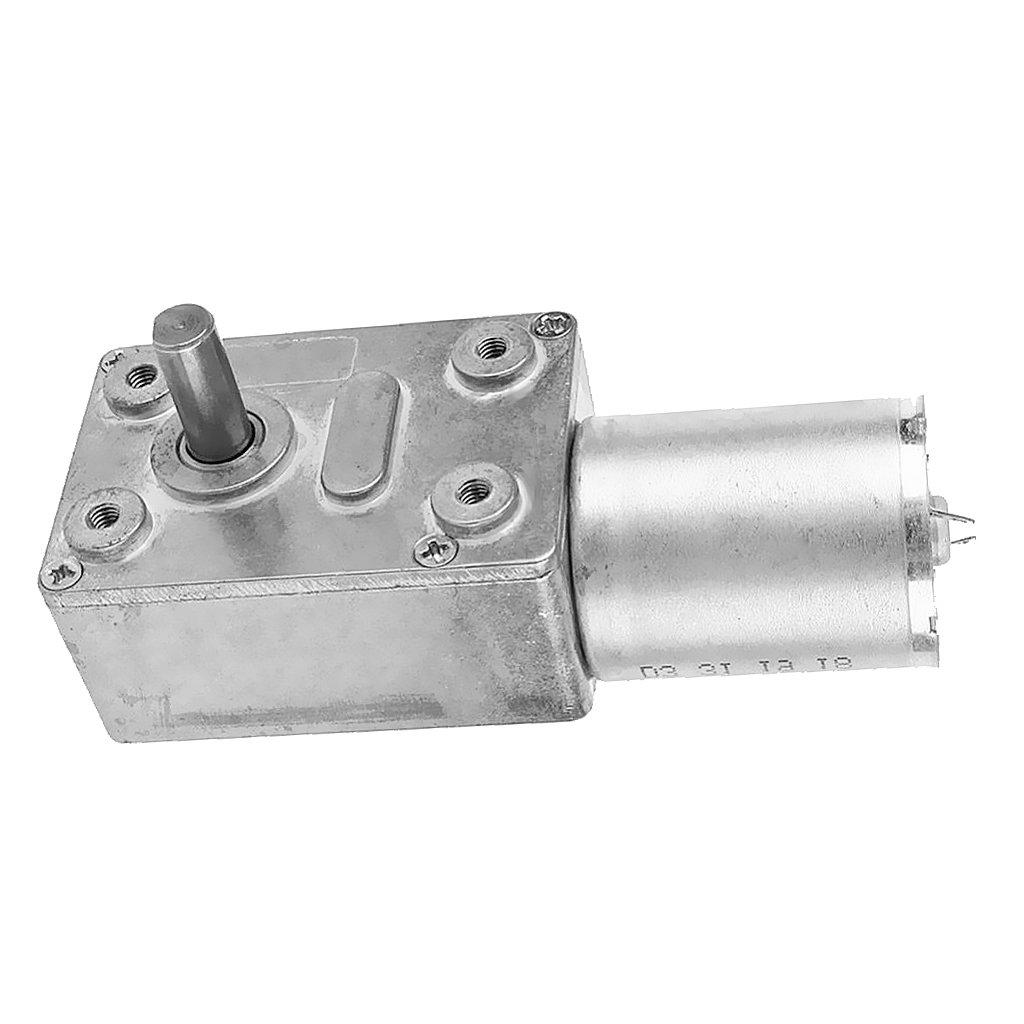 Gazechimp 12V Alta Turbina de Torsi/ón Caja de Engranajes de CC Motor Reductor Helicoidal Reductor Corriente Continua 6rpm