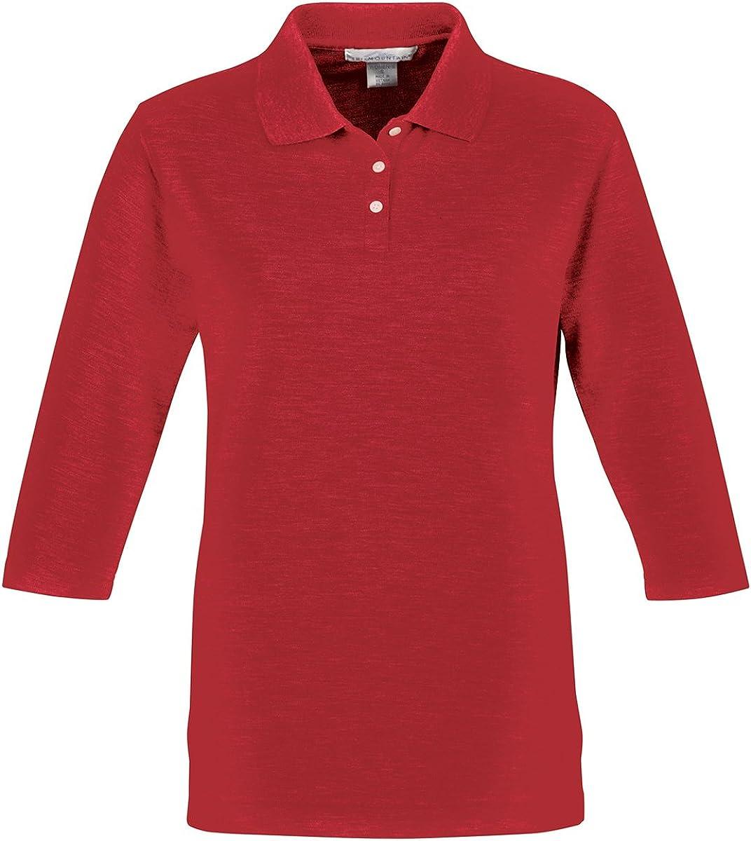 Tri Mountain Women's 3/4-Sleeve Pique Knit Golf Shirt