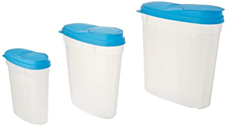Amazoncom 3Pc Plastic Kitchen Food Cereal Storage Container Set