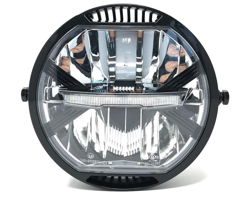 LED Motos Faro 7 para Project Caf/é Corredor o Streetfighter Homologado