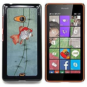 Stuss Case / Funda Carcasa protectora - Estanque Dorado Submarino Pescador buceo - Nokia Lumia 540