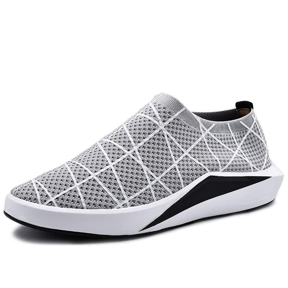 Oudan 2018 Herren Athletic Flat Heel Volltonfarbe Freizeitschuhe (Farbe   Grau, Größe   44 EU) (Farbe   Grau, Größe   39 EU)