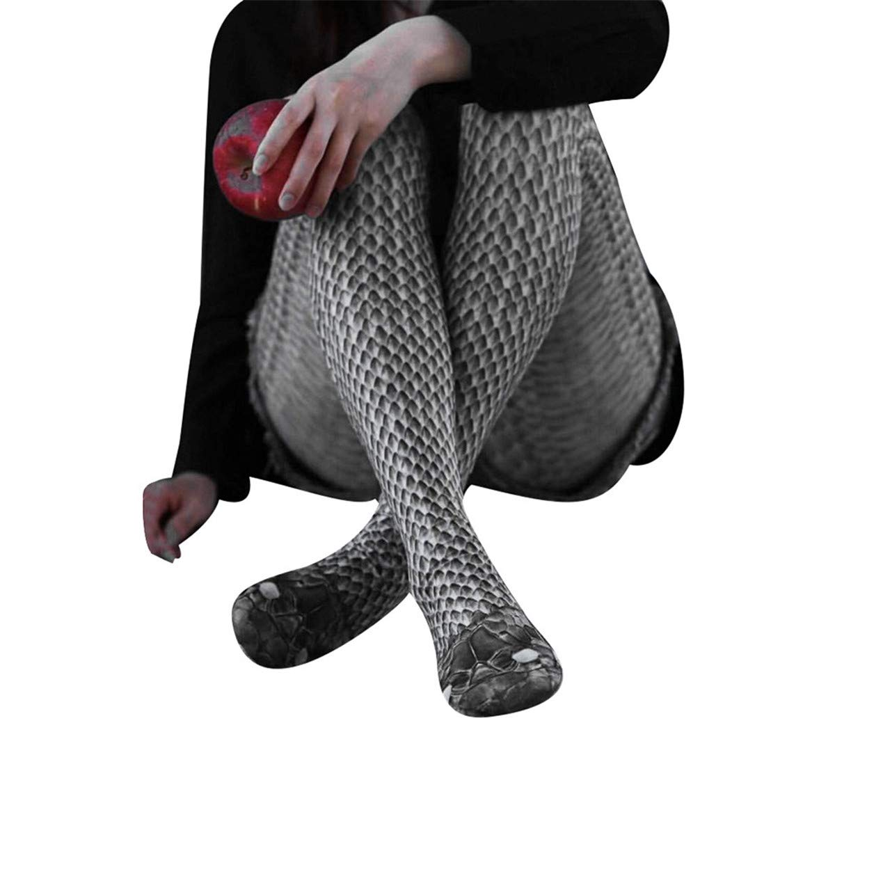 TIFENNY Women's Fashion Snake Pattern Printed Trousers Yoga Fitness Leggings Running Gym Stretch Sports Pants