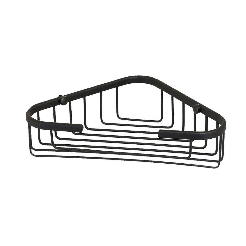 Corner Basket Shower by MAMOLUX ACC| Solid Brass Shower Basket Shelf Tidy Rack Caddy Storage Organizer|Space Saving Toiletries/Cosmetics Holder, Matte Black