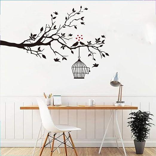 Removable Vinyl Wall Sticker Decal Mural DIY Room Home Decor Tree Black Bird