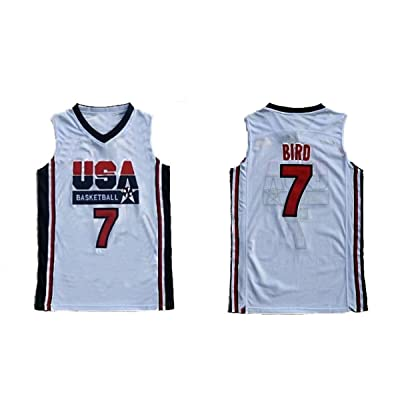 Nmfdz No.7 Bird Jersey Basketball Jersey Sports Embroidery Men's Jersey White Size S