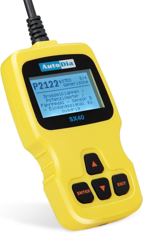 AutoDia SX40/Can Bus Diagnostic OBD2/EOBD Scanner Handscanner in German Language