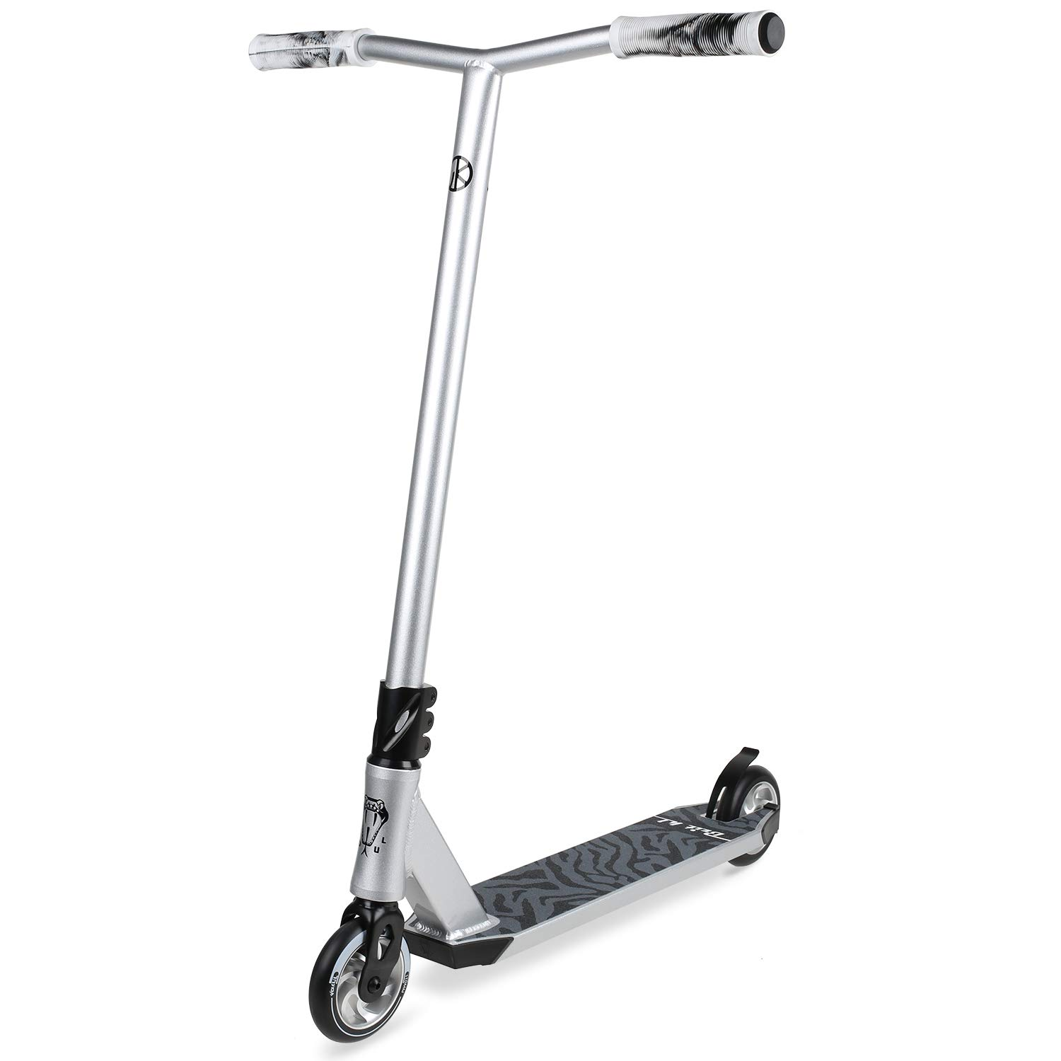 VOKUL Complete Pro Scooter for Kids Boys Girls Teens Adults Up 7 Years - Freestyle Tricks Pro Stunt Scooter with 110mm Metal Wheels - High Performance Gift for Skatepark Street Tricks