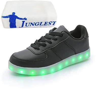 [Present:kleines Handtuch]Weiß 37 EU LED Leucht JUNGLEST Damen Erwachsene Schuhe Sport Herbst Freizeitschuhe schuhe laufende Herren Aufladen Paare bunt Unisex fSSTHz