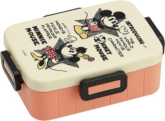 Caja de almuerzo con diseño de Mickey Mouse de Disney, con texto en inglés