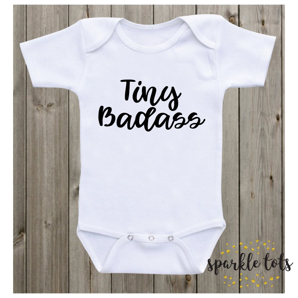 Tiny Badass little badass unisex clothing girl boy take home outfit coming home bodysuit newborn babygrow baby gift cute baby shower gift
