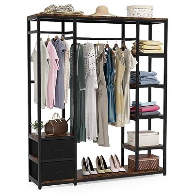 Closet Organizer Shelf Storage System Clothes Shelves Rods Wardrobe Hat /&Coat UK