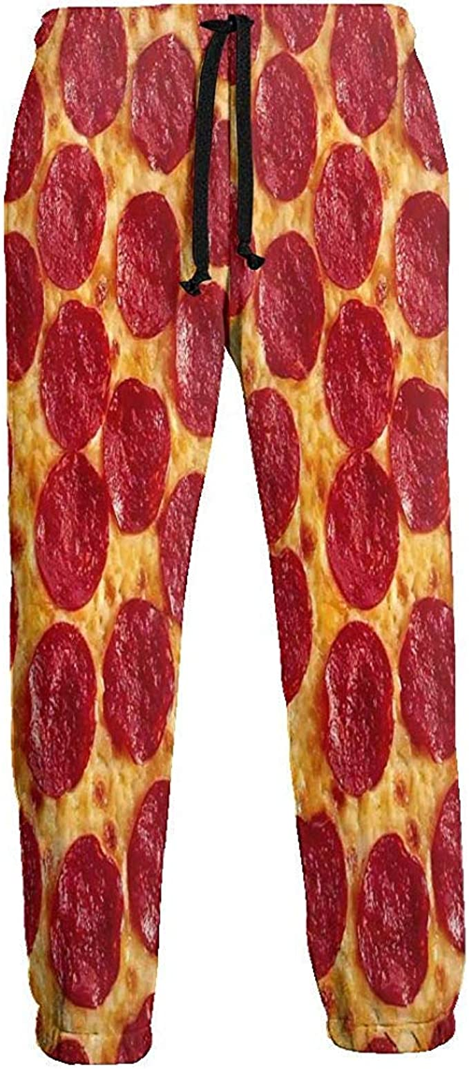 Pizza Hot Dog Pattern Pantalones de chándal para Hombre Pantalones ...