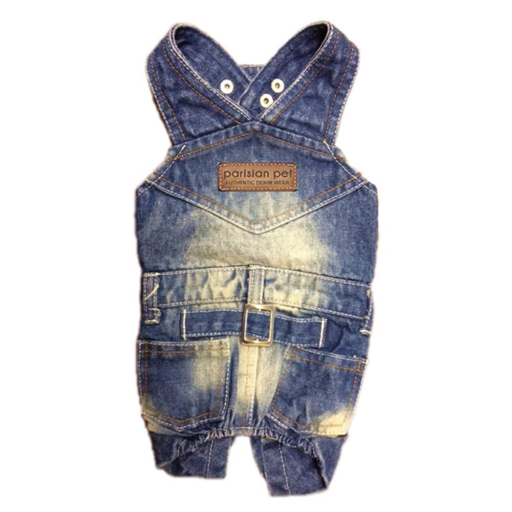 Parisian Pet Dog Clothes Cat Apparel Outfits Denim Overall, S by Parisian Pet