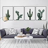 MINRAN DECOR Pintura de Pared Impresión de Cactus Verde Moderna de Lona Arte Decoración Salón Oficina Regalo - LS611251, 6, 50x70cm