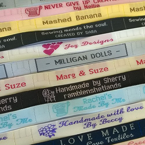 25 Personalized 100% Woven Sewing Labels 1/2'' Wide by Label Weavers (Image #3)