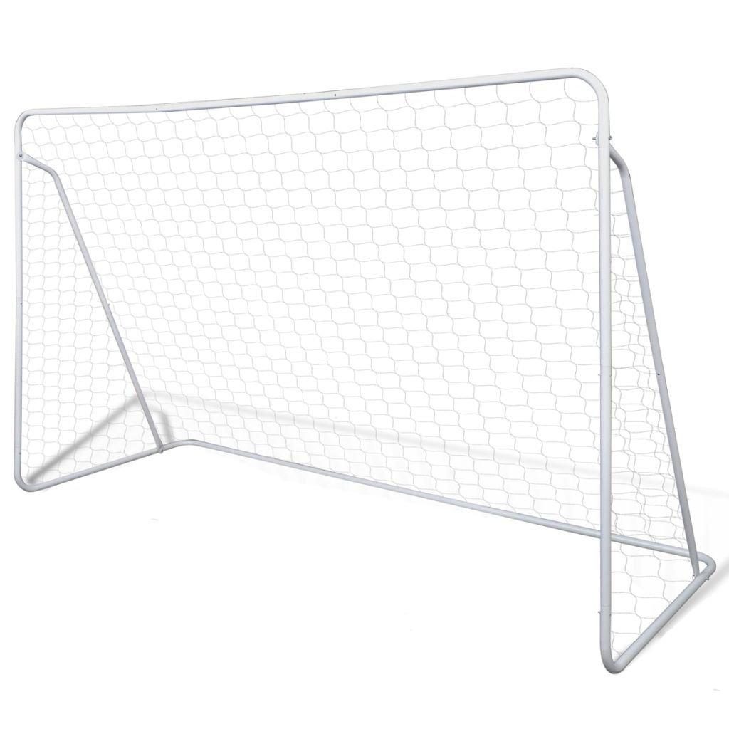 XuzhEU Fußballtor-Set aus Stahl, 240 x 90 x 150 cm, Hohe Qualität