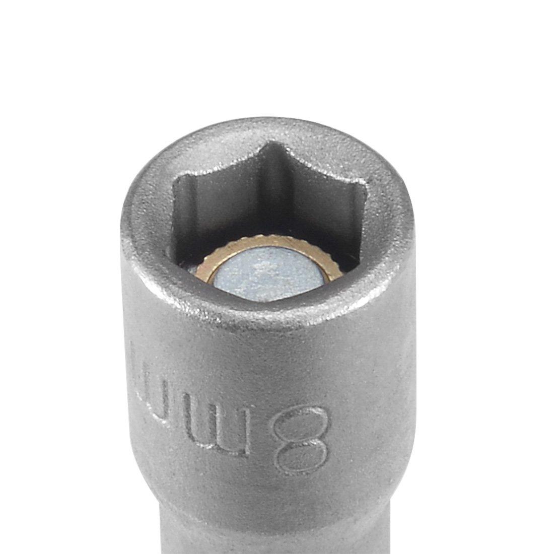 2.5 Length uxcell/® 5Pcs 1//4 Inch Quick Change Shank Cr-V 7mm Magnetic Nut Setter