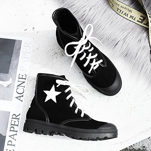 Boots All Color Female Match Flat Boots Martin Cashmere With Black Personality Cross OTYddnR