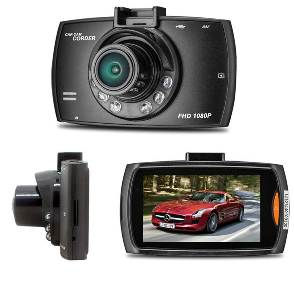 Ljnuanrg Dash Cam 1080P HD Driving Recorder,LCD Car DVR Dash Camera Crash Cam, G-Sensor,2.7 inches LTPS TFT LCD Black