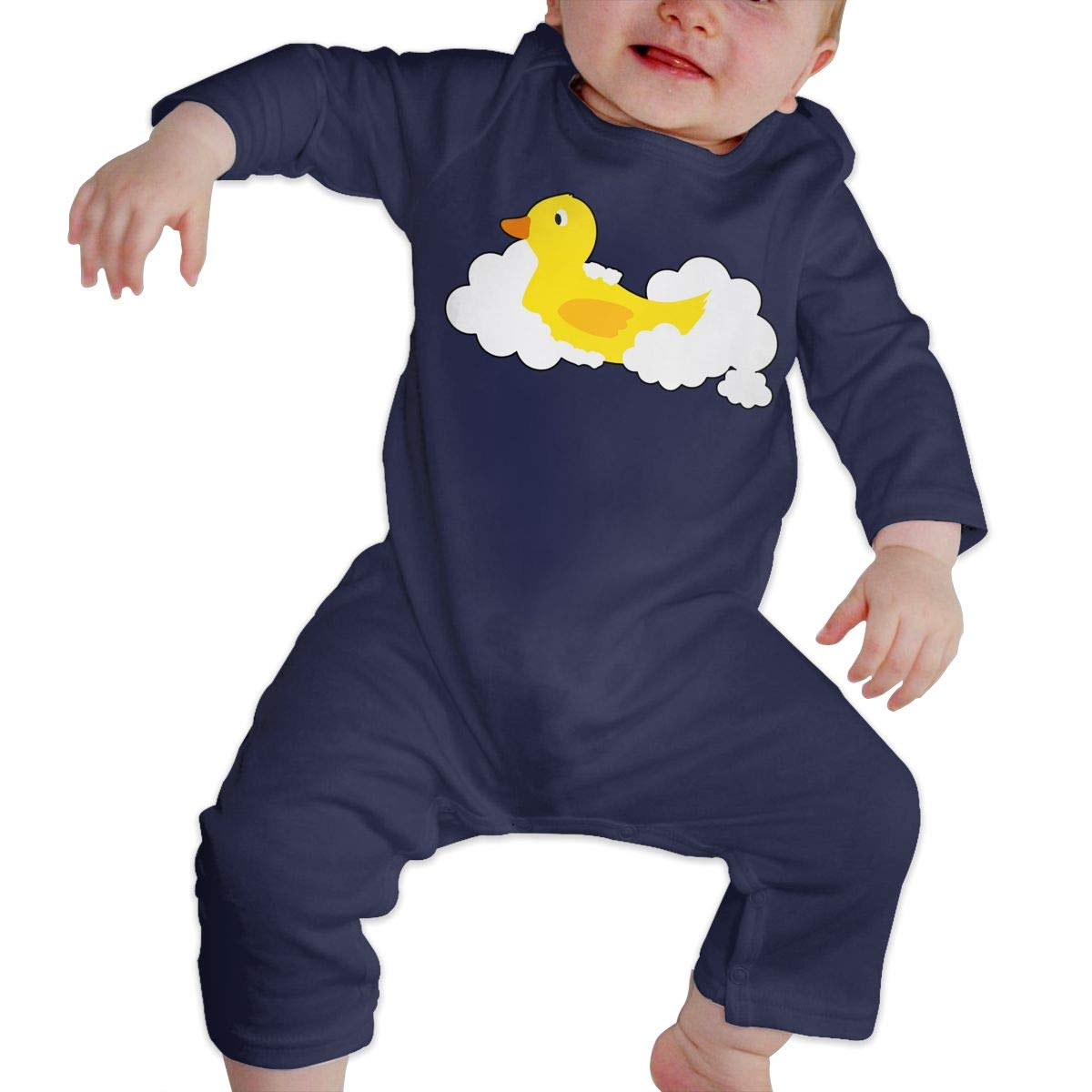 Rubber Duck Toddler Baby Girls Sleep and Play Bodysuit Jumpsuit Outfits