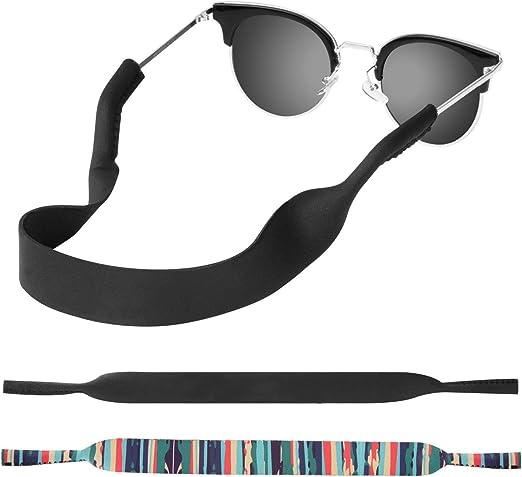 Stretchy Floating Glasses Strap Neoprene Eyewear Retainer Eyeglass Strap for Men Women Kids kuou Sports Sunglasses Strap