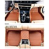 Okutech Custom Fit Luxury XPE Leather Waterproof 3D Full Set Car Floor Mats for Lexus ES 200 240 250 300 350, Brown sewing