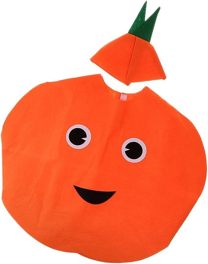 Traje de Naranja Fruta Sin Tejida Niños Vestido Lujo Disfraz ...