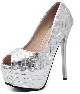 HETAO personnalité  Womens Party Prom Wedding Classic Chaussures Taille Ladies Platform High Heels Pompes Le Cadeau de la Fille