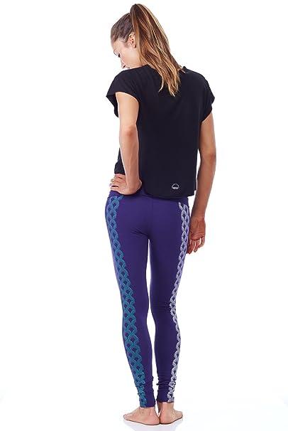 aa30fc2573739 Purusha People Women's Active Workout Sailing Seas Organic Leggings Yoga  Pant - XS, S, M, L at Amazon Women's Clothing store: