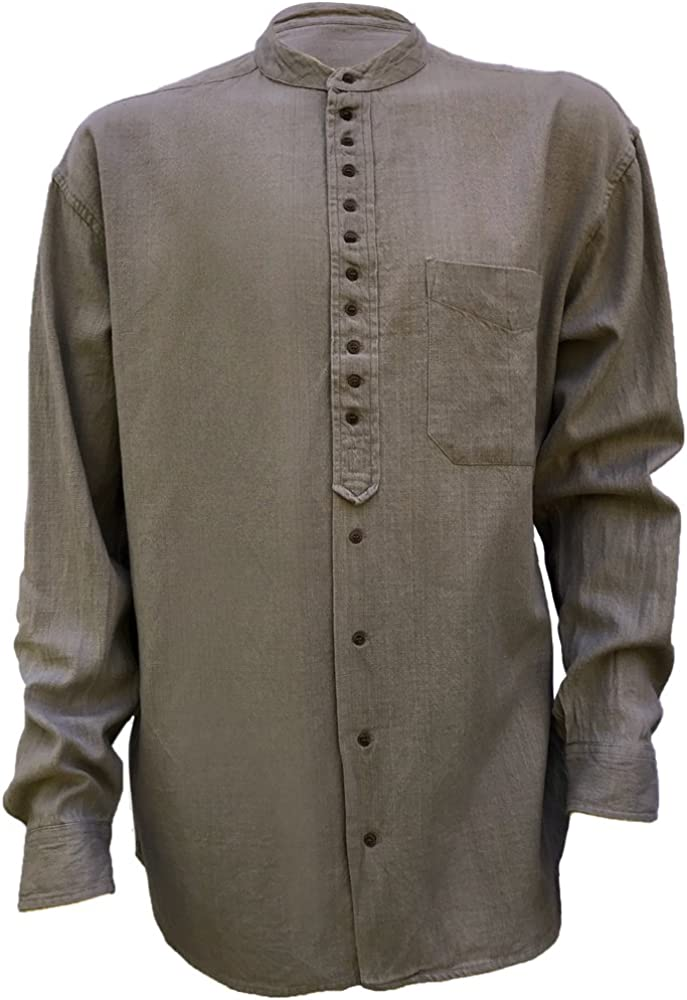 Civilian Irish Grandfather Collarless Shirt Castlerock