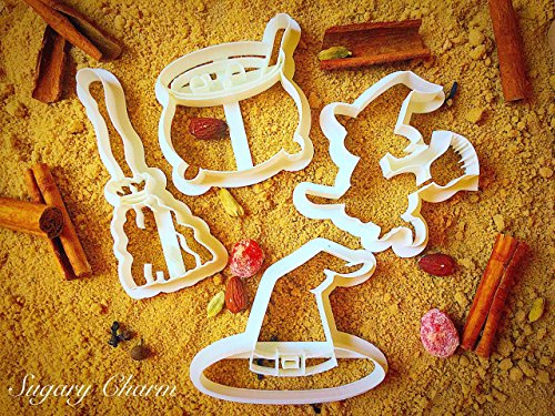 Halloween Witch cookie cutter set (4 Pieces) (Baking Ideas For Halloween)