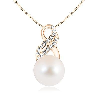 Angara Freshwater Cultured Pearl Infinity Swirl Pendant rNcNDpUU