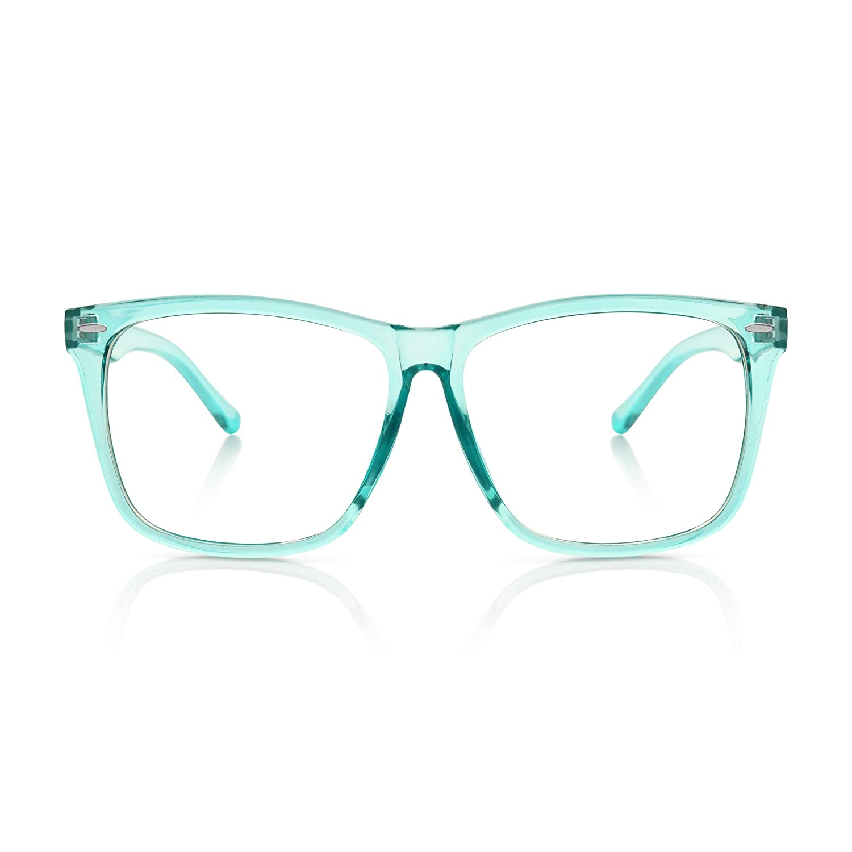 5Zero1 Unisex Student Cosplay Nerd Oversize Korean Style Fashion Clear Lens Glasses Black